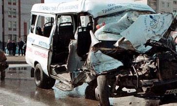 В Орле произошла автомобильная авария с участием маршрутного такси