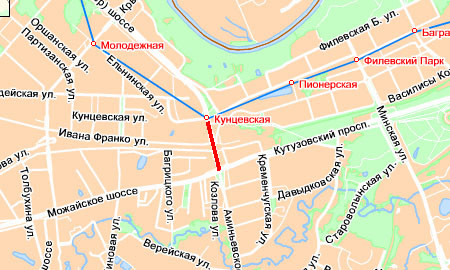 Пробка на Рублевском шоссе