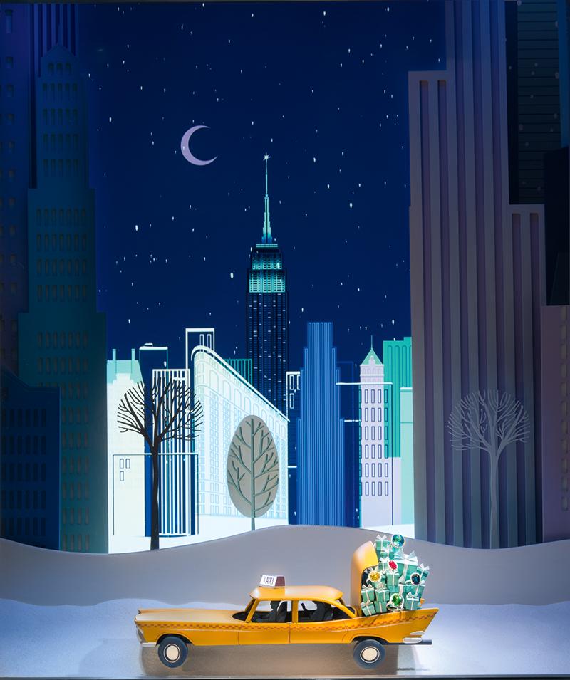 Рождественская витрина Tiffany & Co., 2014