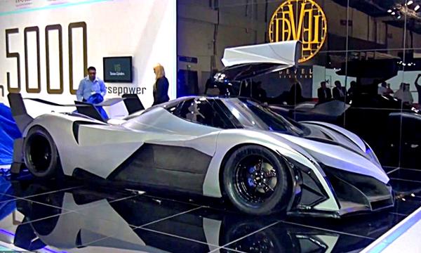 В Дубае представили 5000-сильный суперкар