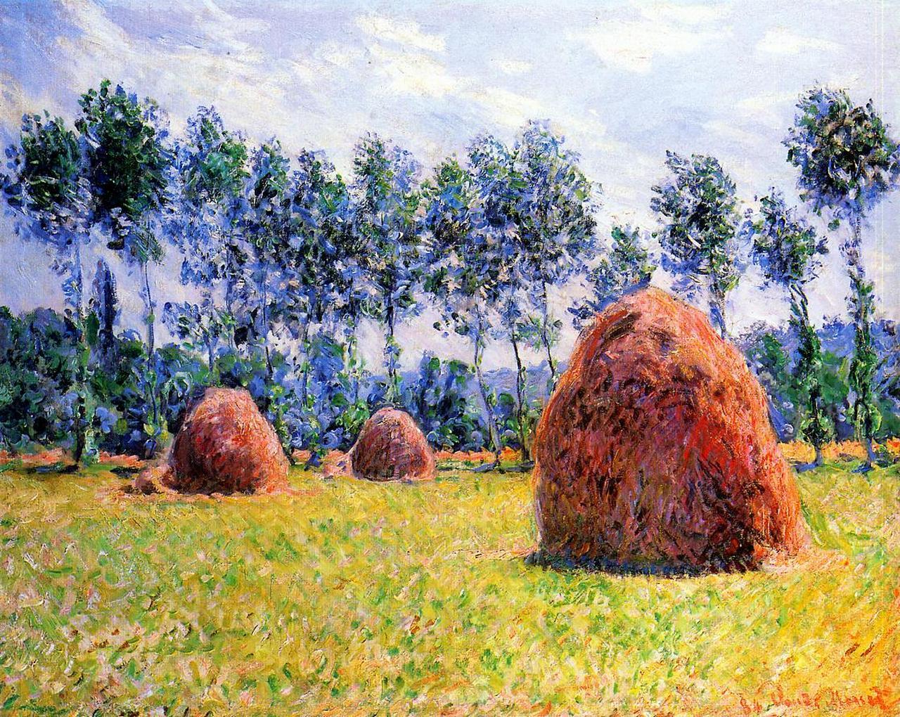 Клод Моне. «Стога сена в Живерни», 1884