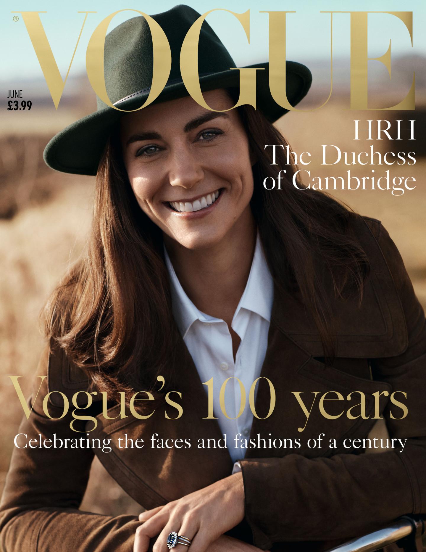 Обложка британского журнала Vogue, июнь 2016 г.