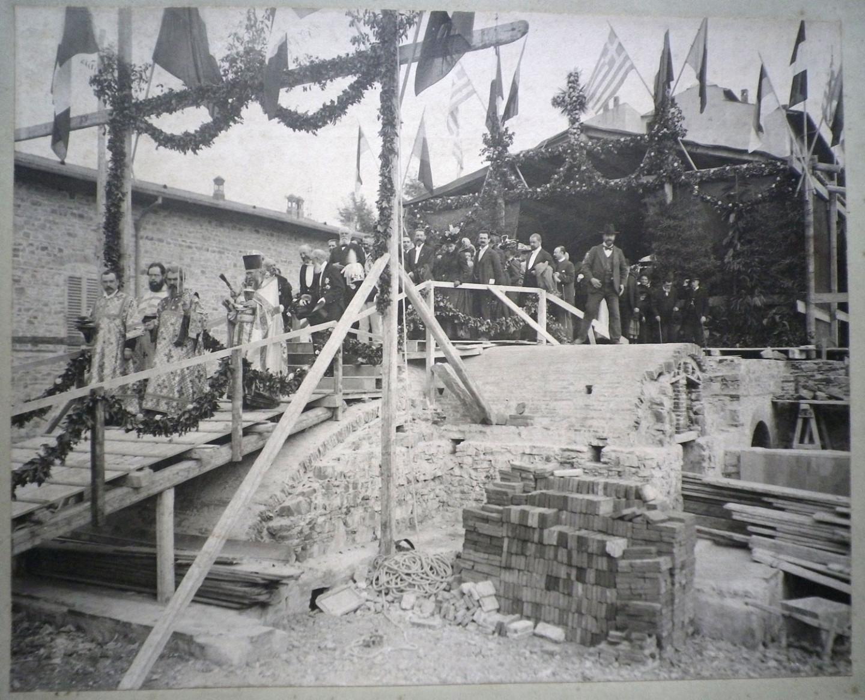 Церемония открытия русской церкви во Флоренции, 1899 год