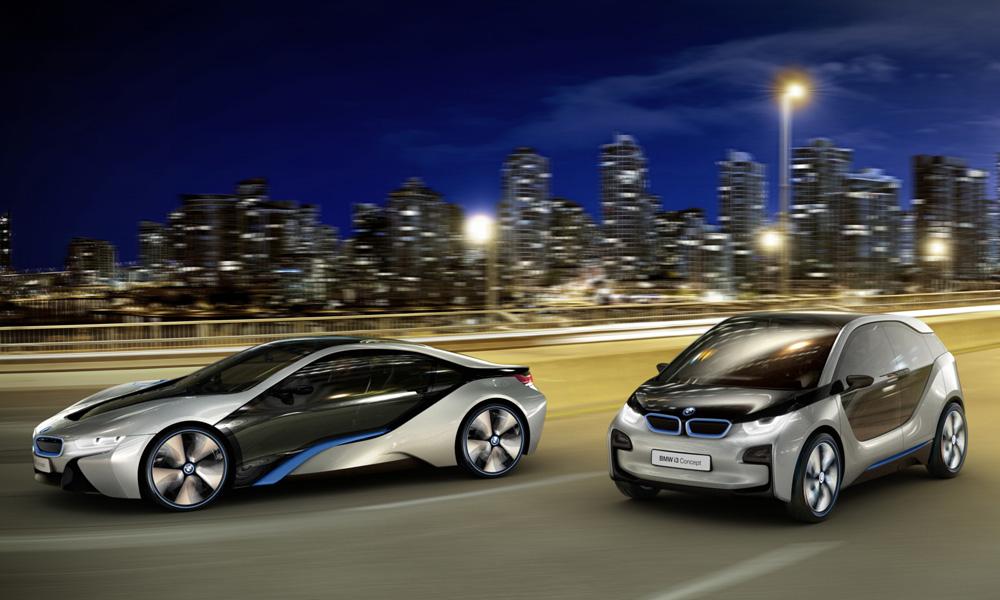 Концепт-кары BMW i3 и BMW i8
