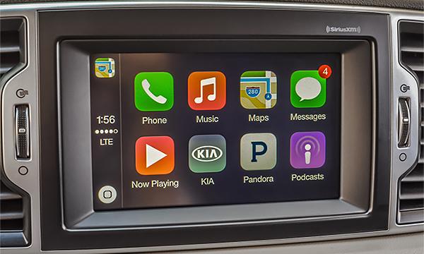Автомобили Kia получат системы CarPlay и Android Auto