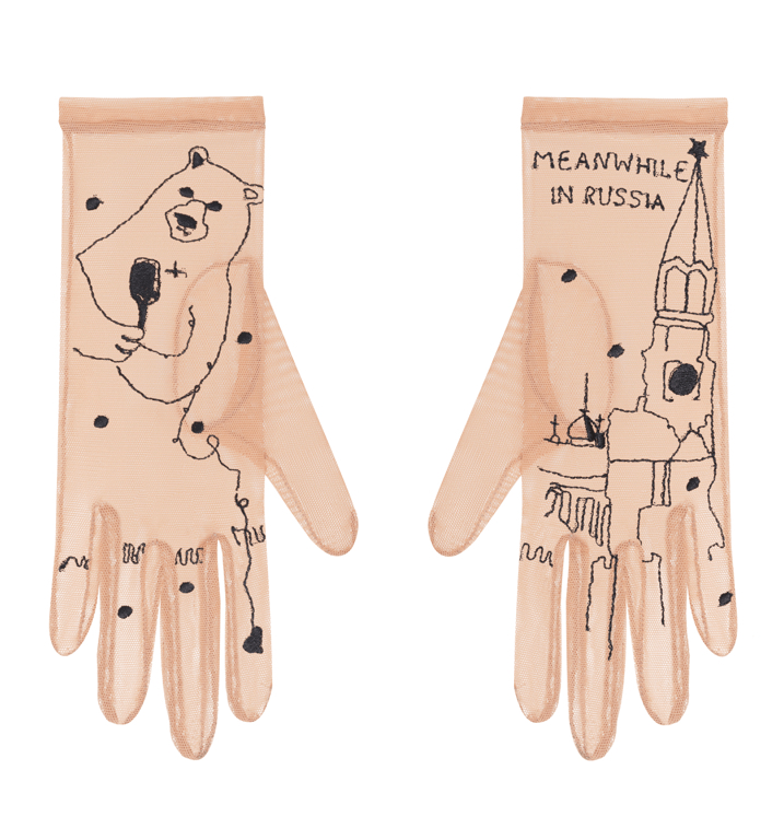 Перчатки Glove.me с вышивкой в виде Кремля, 6900 руб. (glove.me)