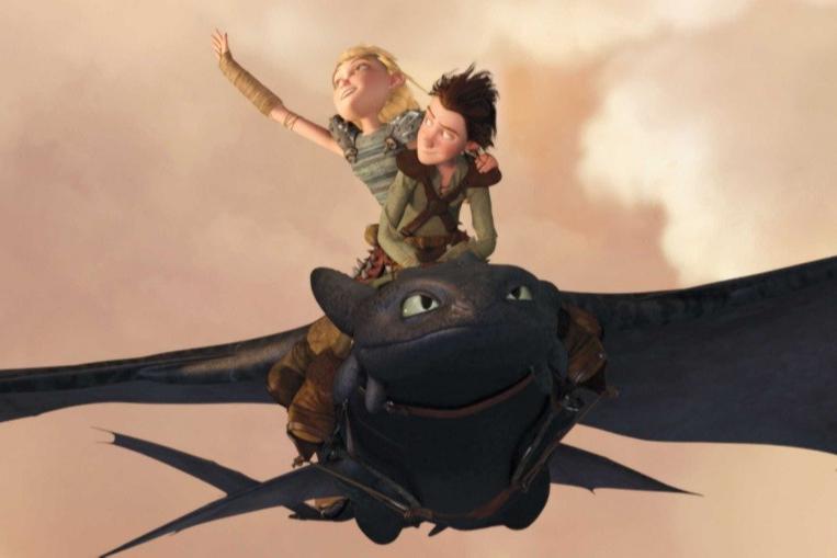 Кадр из мультфильма «Как приручить дракона»
