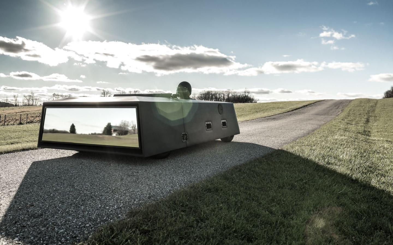 Американец создал концепт-кар, который выглядит как зеркало заднего вида