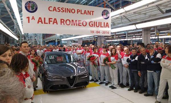Седан Alfa Romeo Giulia отправили в серию