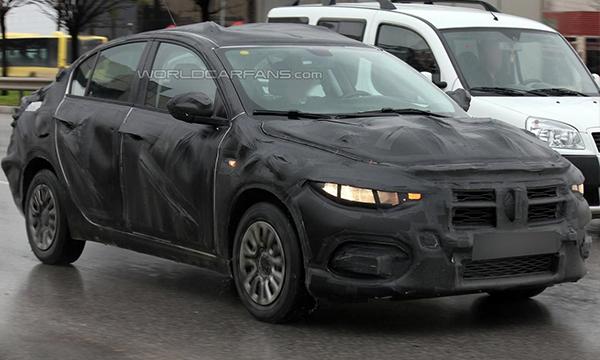 Новый седан Fiat Linea впервые замечен на тестах