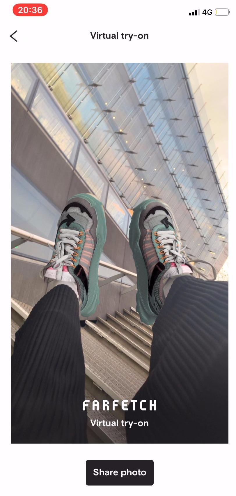 Услуга виртуальной примерки обуви от Farfetch