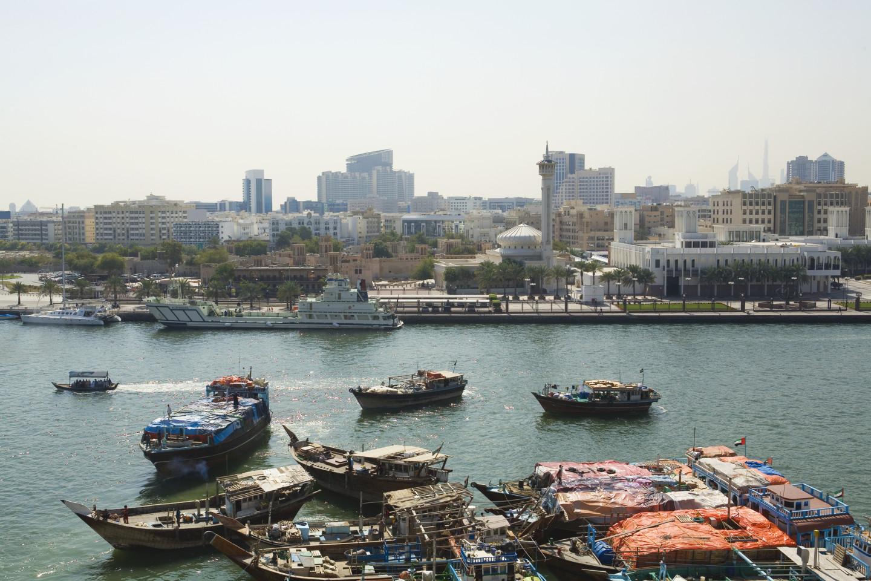 Вид на Дубайский канал и новую часть города