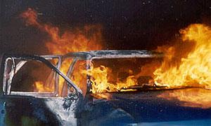 На Тверской столкнулись и загорелись две машины