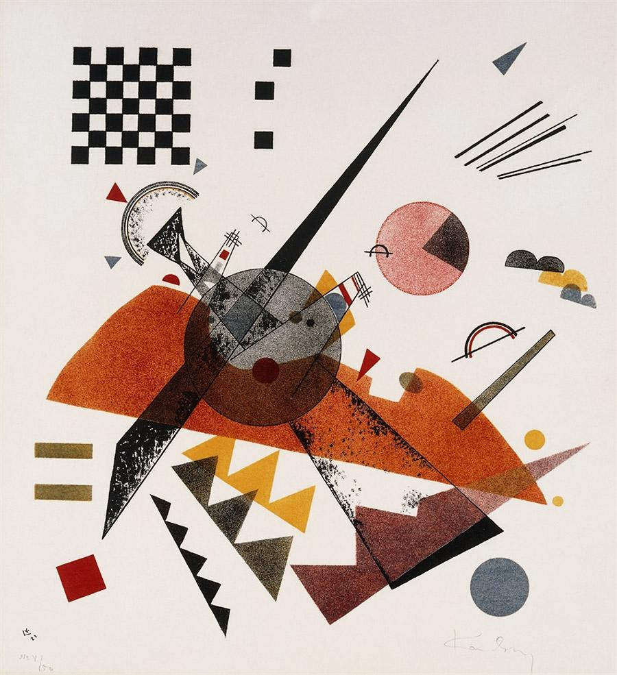 Василий Кандинский. «Оранжевое», 1923 г. Литография