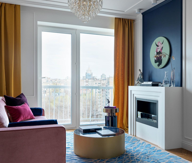 Гостиная в квартире на Кутузовском проспекте