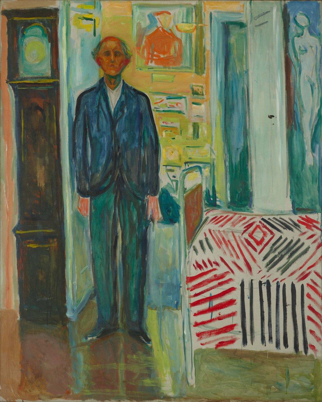 Эдвард Мунк. «Между часами и кроватью», 1940–43