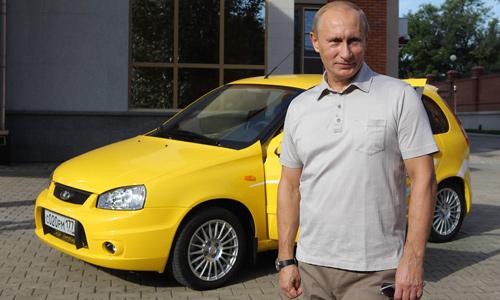 Lada Kalina, на которой В. Путин проехал по трассе «Амур», покажут публике