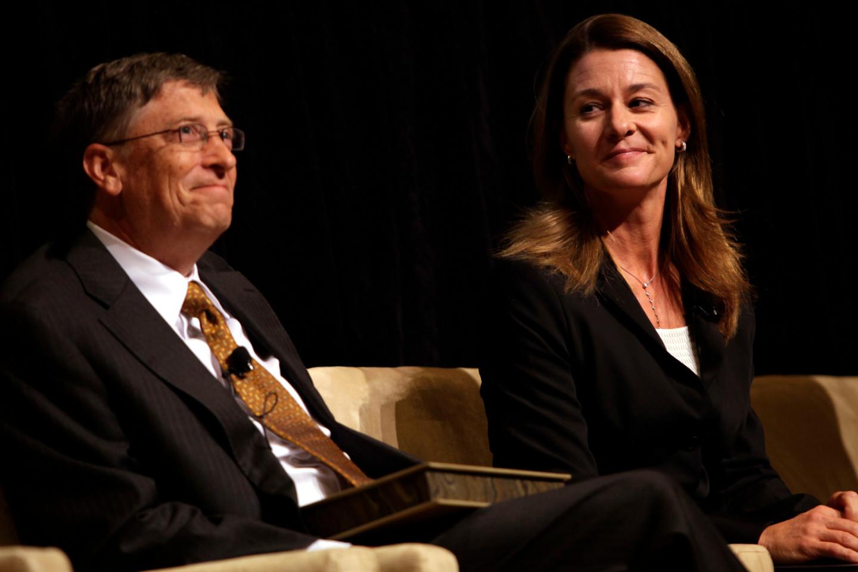 Билл и Мелинда Гейтс получают награду Джеймса Уильяма Фулбрайта в Библиотеке Конгресса в Вашингтоне, 2010 год