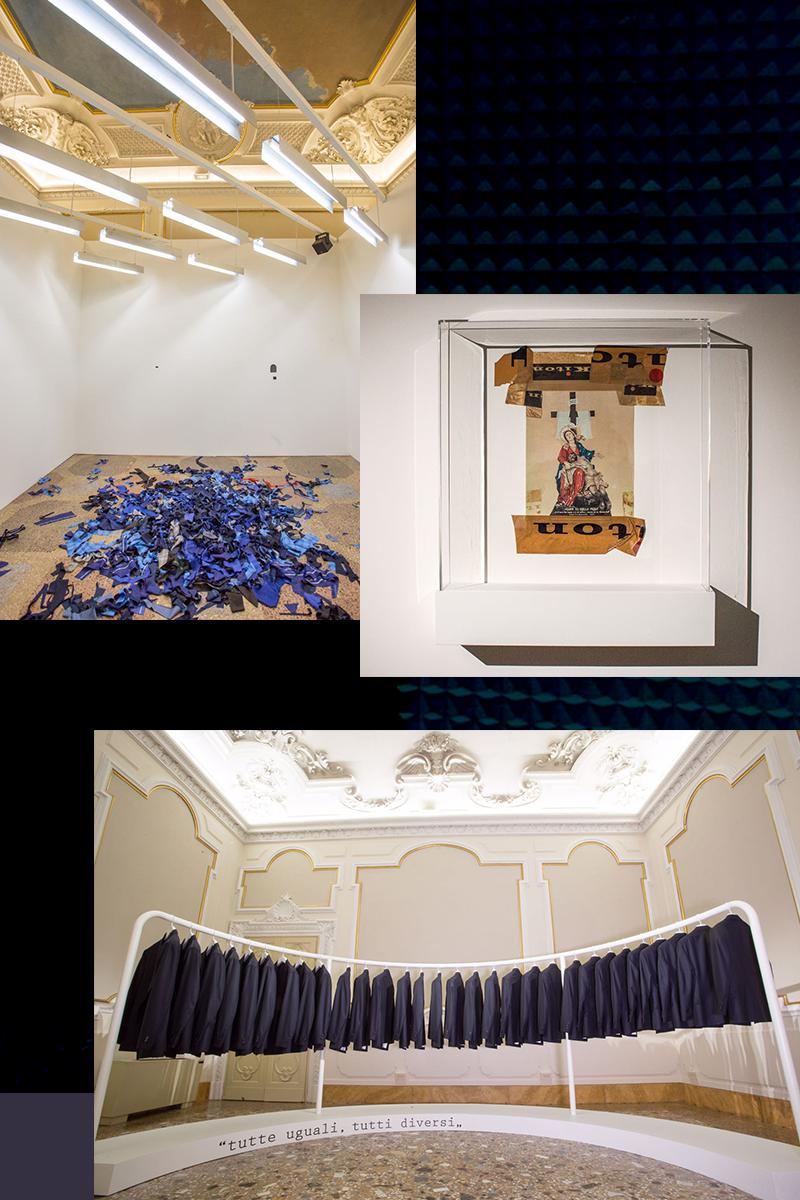 Несколько залов выставки «Due o tre cose che so di Ciro» в палаццо Джерини