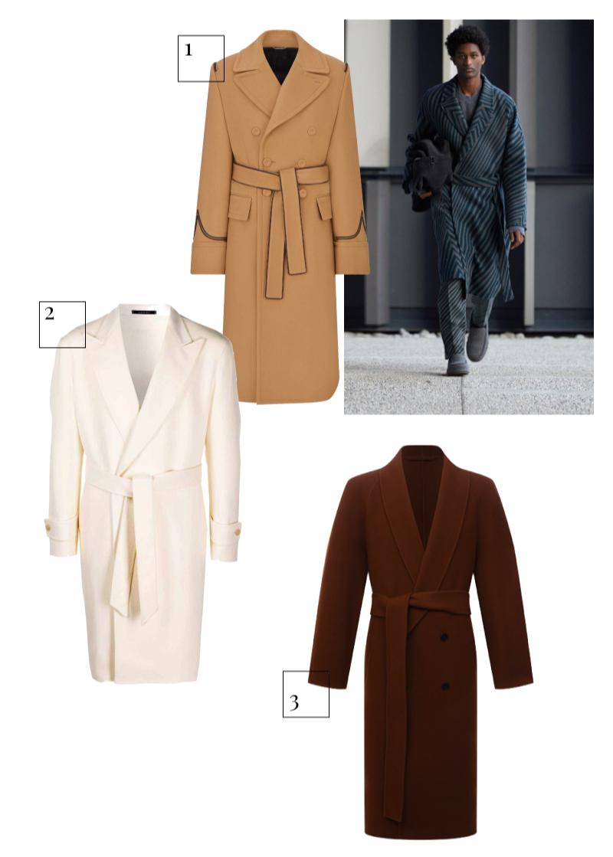 Ermenegildo Zegna, осень-зима 2021/22 1.Пальто Dior Men, 325 000 руб. (Dior Men) 2.Пальто Tagliatore, 54 218 руб. (farfetch.com) 3.Пальто The Row, 249 000 руб. (ЦУМ)