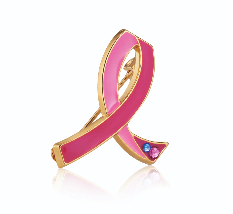 Брошь в поддержкукампании по борьбе с раком груди, Estée Lauder