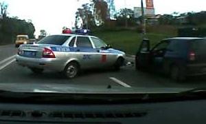 Как действовать, если произошло ДТП с машиной полиции