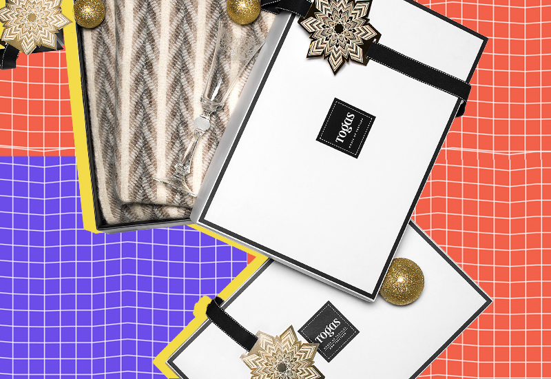 Подарочные коробки и плед Togas
