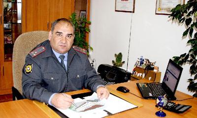 Начальник Управления ГИБДД МВД по РА полковник полиции Чиназиров Алий Казбекович