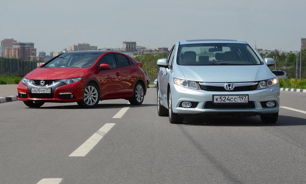 Тест-драйв Honda Civic: хэтчбек против седана