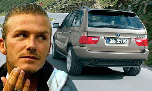 У Дэвида Бекхэма угнали BMW X5