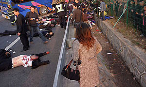 В результате крупного ДТП в Китае погибли 24 человека