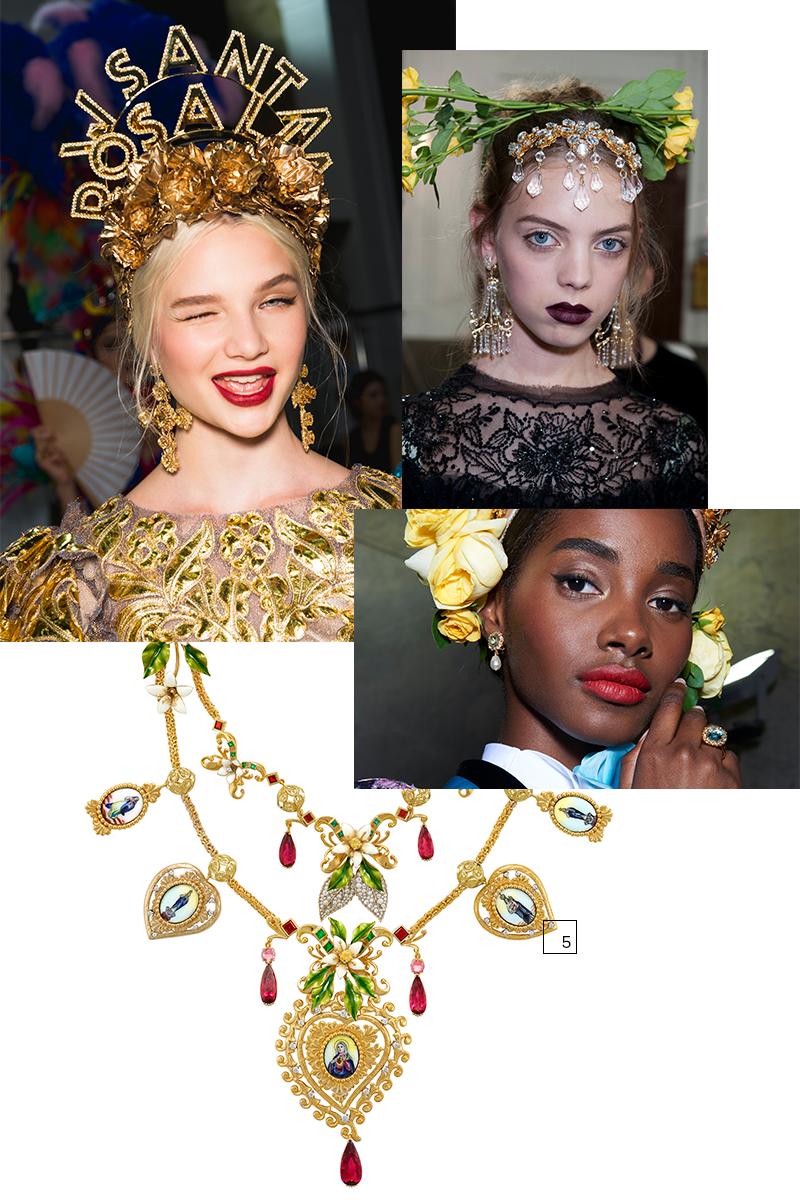 5) Ожерелье «Священное сердце» с медальонами, раскрашенными вручную, рубеллитами, турмалинами, родолитами, изумрудами, желтыми сапфирами, бриллиантами и жемчугом