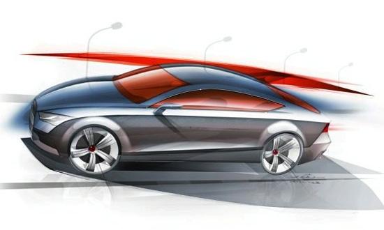 Скетч Audi A7 Coupe