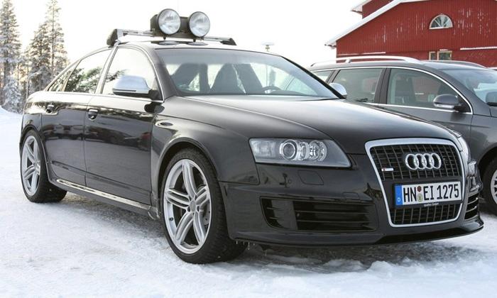 Появились шпионские фото седана Audi RS6