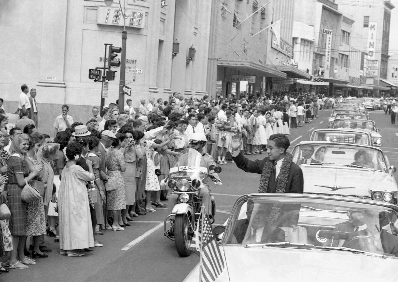 Японский наследный принц Акихито во время государственного визита в США,22 сентября 1960 года