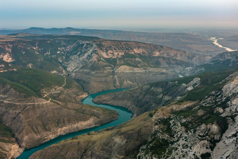 Сулакский каньон со смотровой площадки в селе Дубки