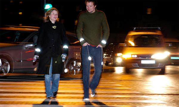 Пешеходов будут штрафовать за отсутствие светоотражателей