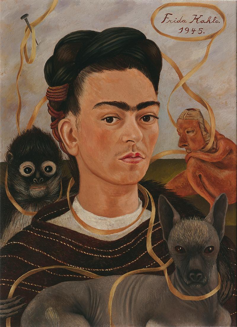 Фрида Кало. «Автопортрет с обезьянкой», 1945.