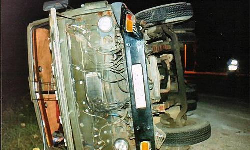 На Украине разбился грузовик, перевозивший азотную кислоту