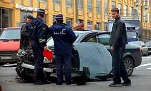 За прошедшие выходные в Москве произошло 95 ДТП