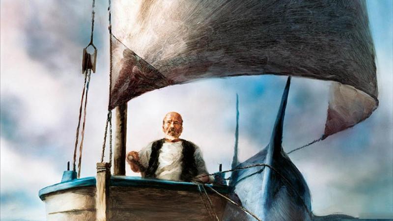 Кадр из мультфильма«Старик и море»