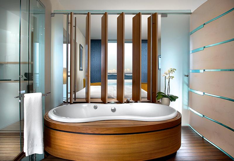 Ванная комната в номере отеля Palafitte