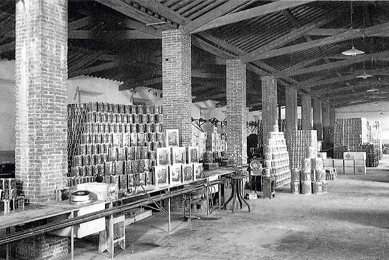 Фирменные жестяные банки Filippo Berio. Архивное фото