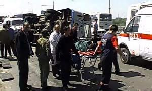 В Омске КамАЗ протаранил колонну автобусов с детьми, трое погибли