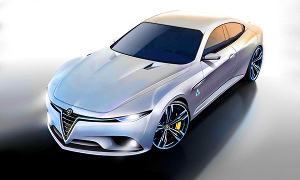 Седан Alfa Romeo Giulia получит двигатель Ferrari