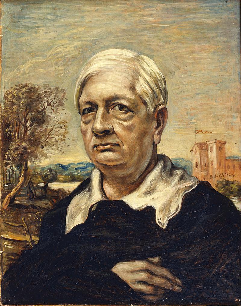Джорджо де Кирико. «Автопортрет в черном свитере», 1957. Фонд Джорджо и Изы де Кирико, Рим