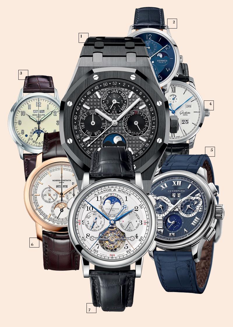 1 | Audemars Piguet; 2 | Hermès; 3 | Patek Philippe; 4 | Glashütte Original; 5 | Chopard; 6 | Vacheron Constantin; 7 | A. Lange & Söhne