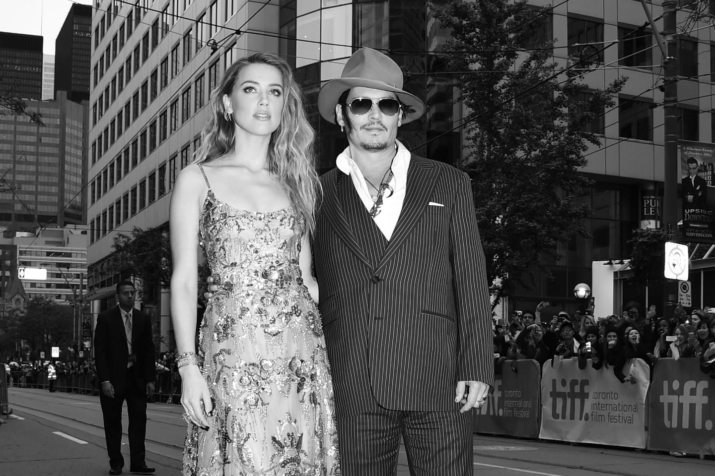 Эмбер Херд и Джонни Депп на международном кинофестивале в Торонто, 2015