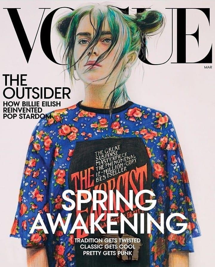 Обложка американского Vogue с рисунком Насти Ковтун