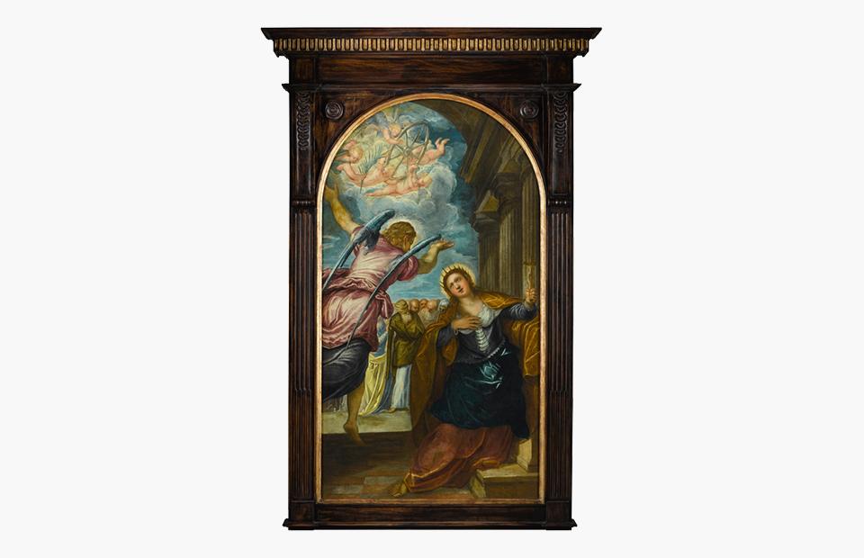 Тинторетто «Ангел, предсказывающий Святой Екатерине Александрийской ее мученичества»